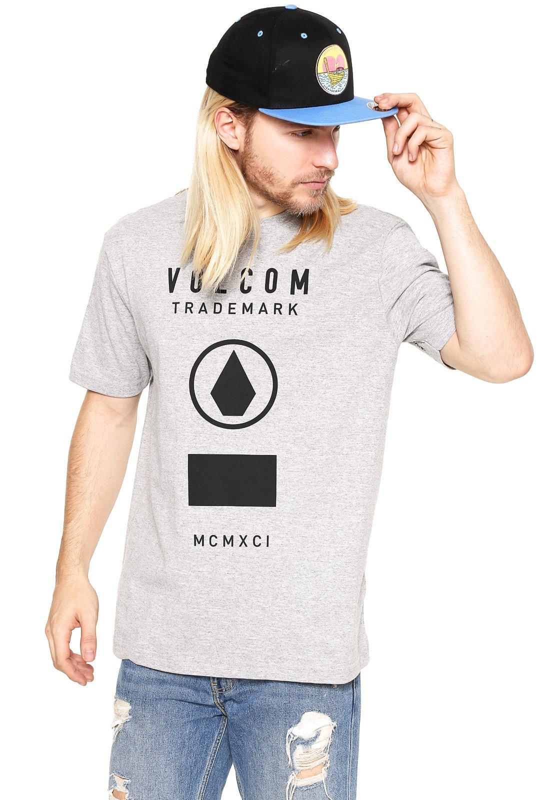 c0c9026997aca Camiseta Volcom Solid State Cinza - Compre Agora