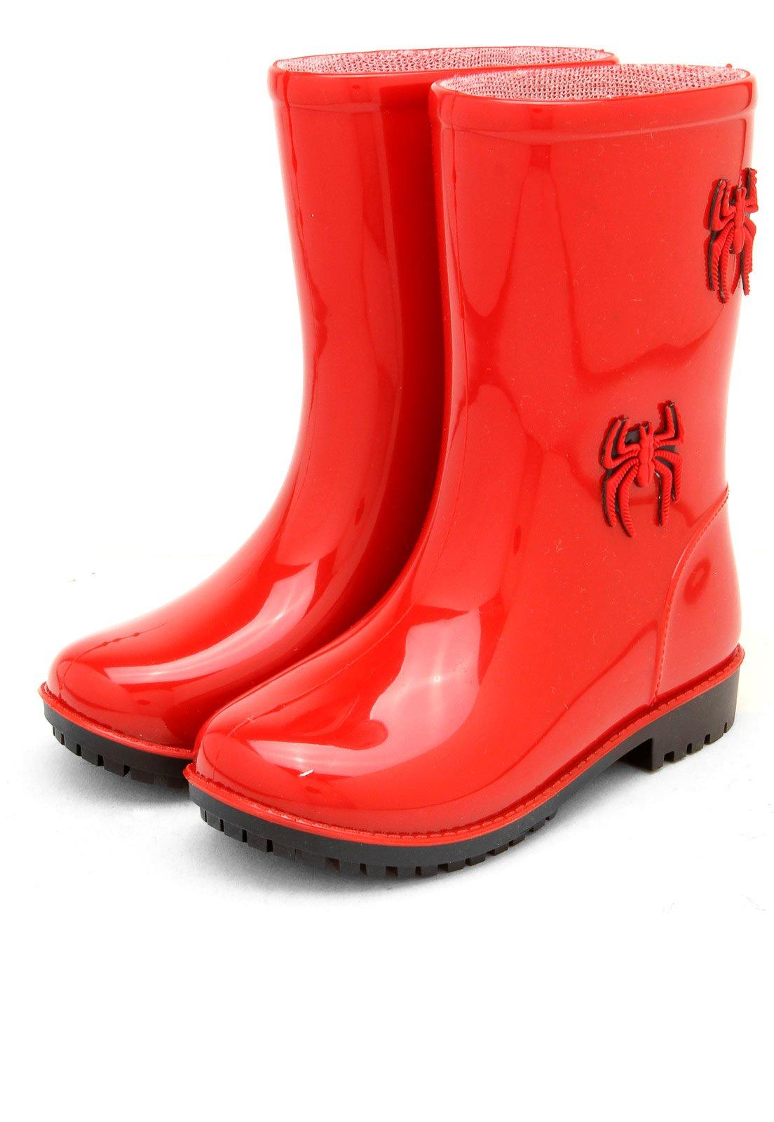 a8451a96a6e Bota Galocha World Colors Infantil Tom Vermelha - Compre Agora ...