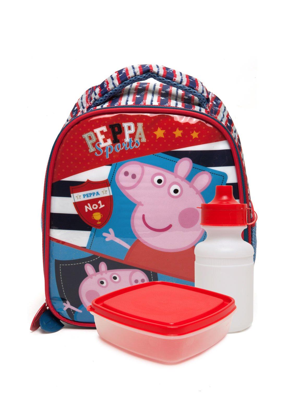 882dca0e7 Lancheira Xeryus Infantil Peppa Pig Sports Azul/Vermelha - Compre Agora |  Tricae Brasil