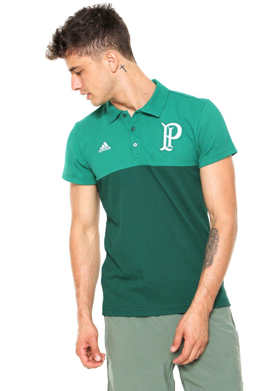 ff57ab0f42 Camisa Polo adidas Premium Palmeiras Verde - Compre Agora