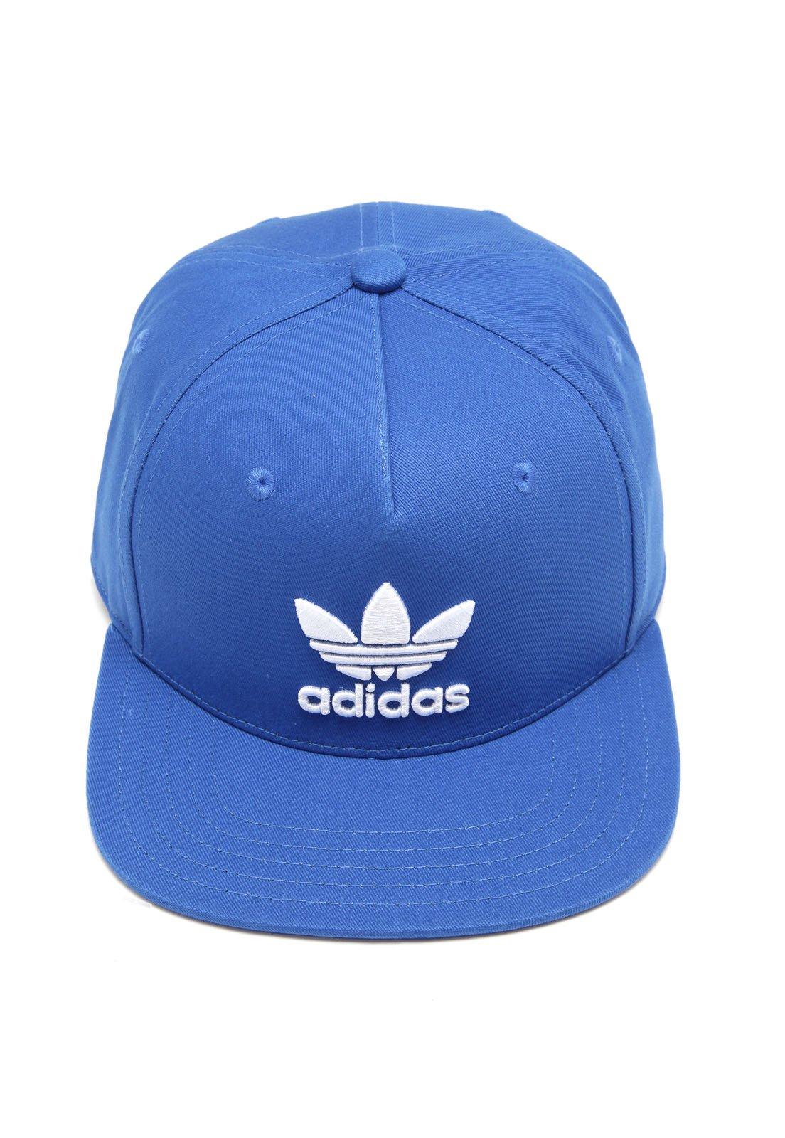 Boné adidas Originals Snapback Trefoil Flat Azul - Compre Agora ... 11a9d161d4e
