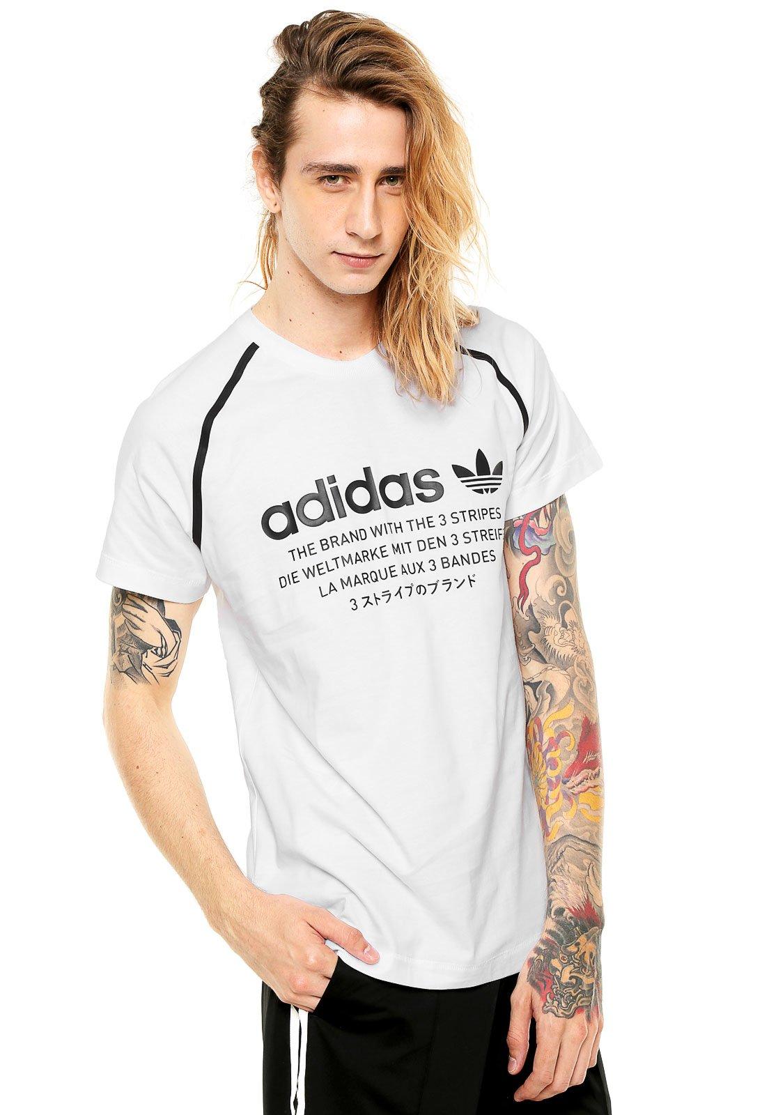 37dc7774104 Camiseta adidas Originals NMD D Branca - Compre Agora