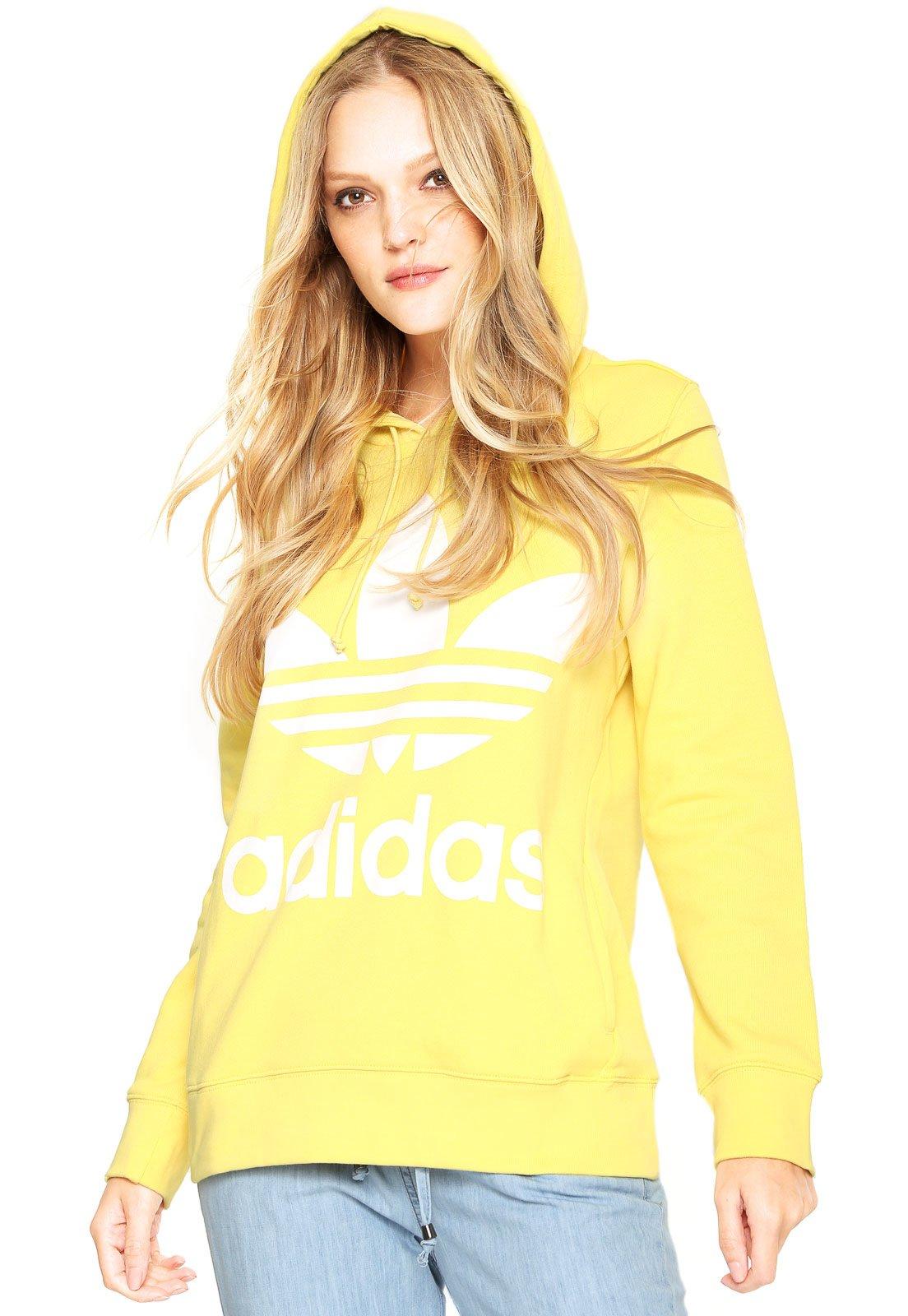 658393aff9f Moletom Fechado adidas Originals Trefoil Hoodie Amarelo - Compre Agora