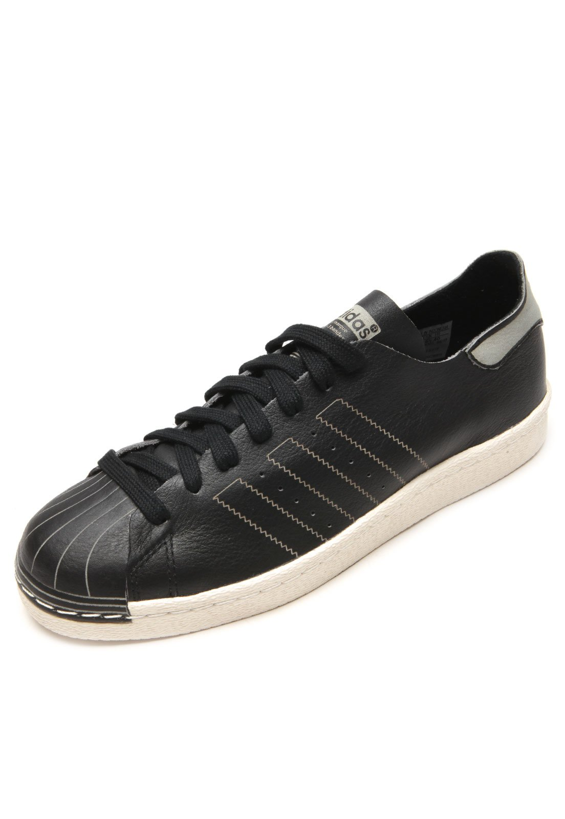 00f84953c55 adidas Originals. Tênis Couro adidas Originals Superstar 80S Decon Preto  Branco