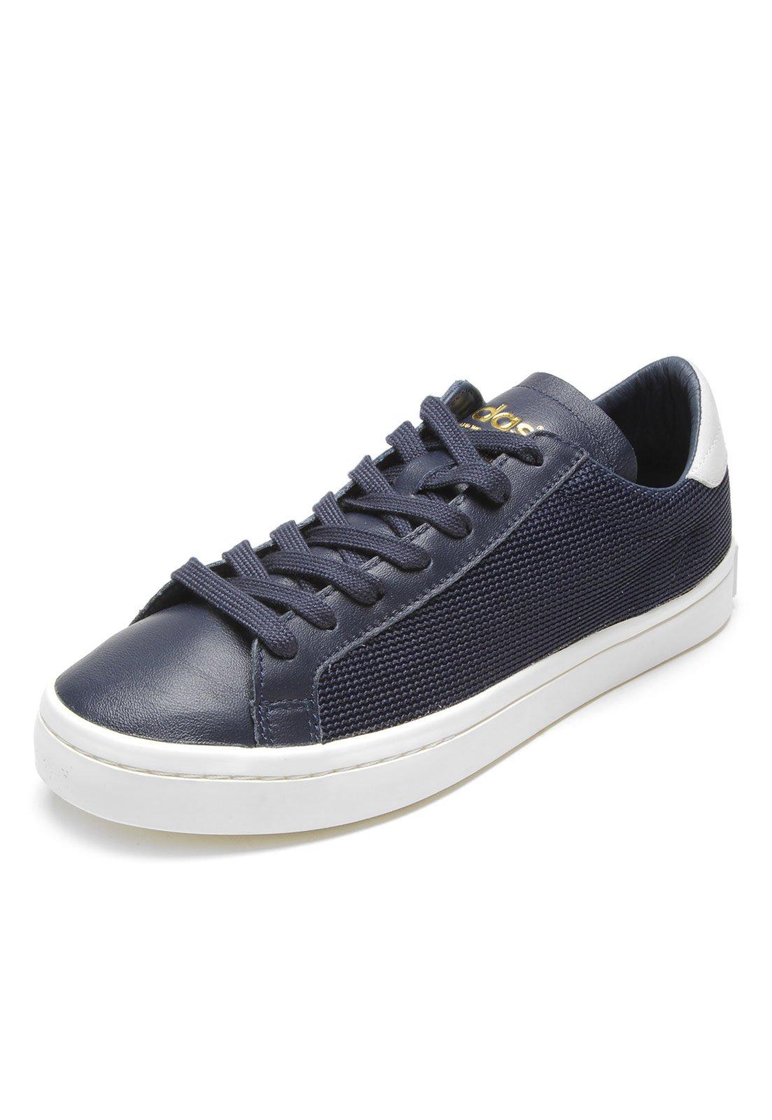 9bec6bc0351 Tênis adidas Originals Courtvantage Azul-marinho Branco - Compre Agora