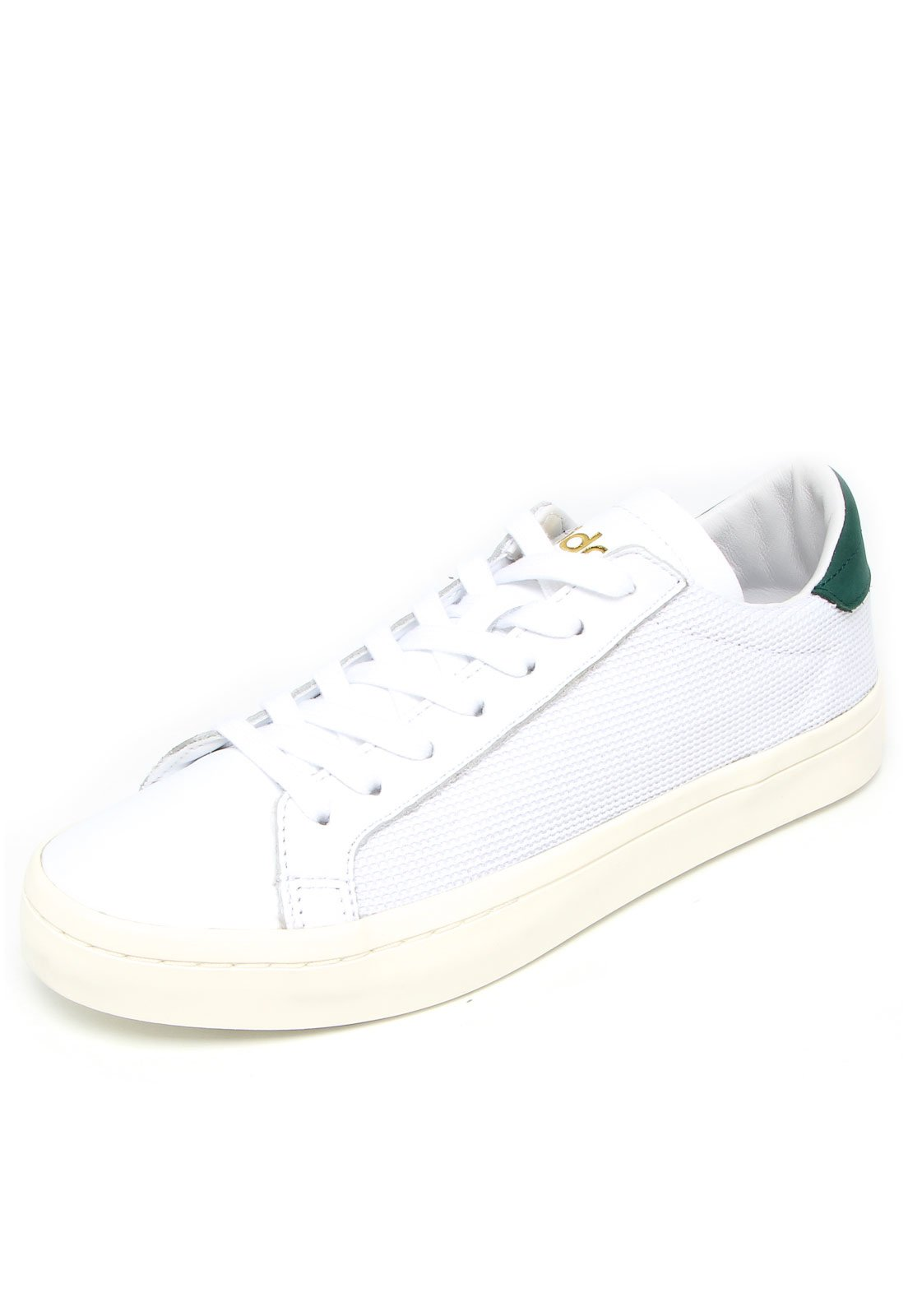buy online 07346 cb41b Tênis adidas Originals Courtvantage Branco Verde - Compre Agora   Kanui  Brasil
