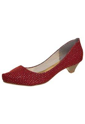 Sapato Scarpin FiveBlu Metalizado Vermelho