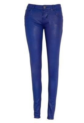 Calça Jeans Triton Skinny Fatima Resinada Azul