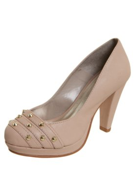 Sapato Scarpin Pink Connection SPikes Nude