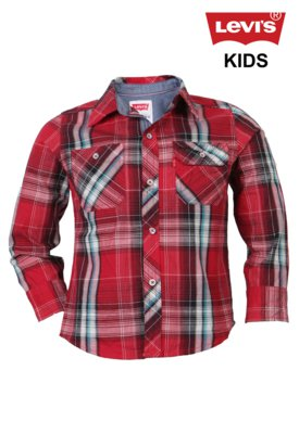 Camisa Levi's Woven Xadrez Vermelha - Levi's Kids