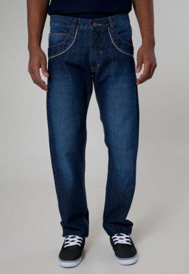 Calça Jeans Fatal Surf Reta Detail Azul