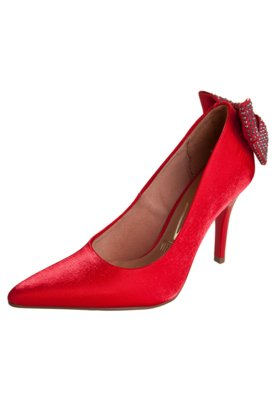 Sapato Scarpin Vizzano Laço Traseiro Vermelho