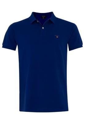 Camisa Polo Gant Rugger Azul