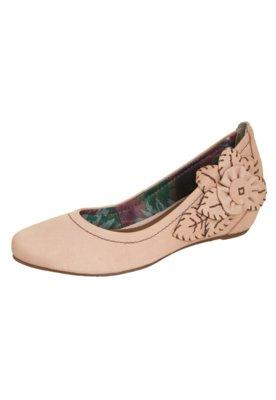 Sapato Scarpin Anabela Embutida Mary Jane Nude - Cravo & Can...