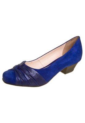 Sapato Scarpin Bottero Nó Salto Baixo Azul