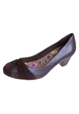 Sapato Scarpin Bottero Nó Frente Marrom
