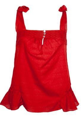 Blusa Anna Flynn Texture Vermelha