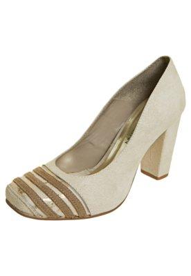 Sapato Scarpin Anna Flynn Tiras Bege