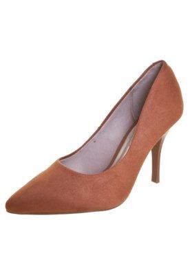Sapato Scarpin Beira Rio Salto Alto Bico Fino Caramelo