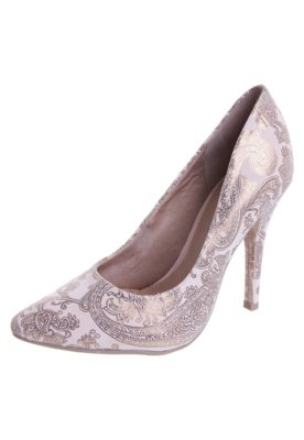 Sapato Scarpin FiveBlu Arabescos Rosa