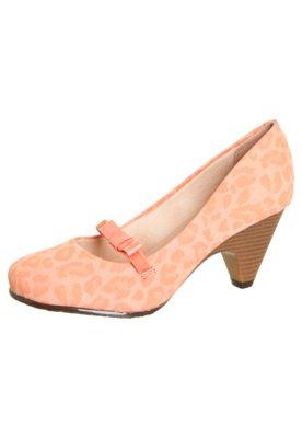 Sapato Scarpin Moleca Boneca Laço Onça Coral