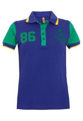Camisa Polo Coca-Cola Clothing Small Team Azul - Coca Cola C...