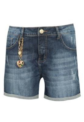 Bermuda Jeans Triton Daria 2 Coração Azul