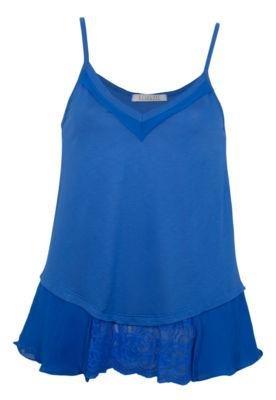 Blusa Eclectic Babado Azul