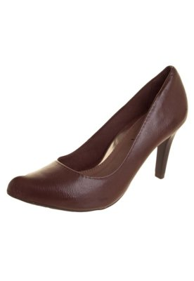 Sapato Scarpin Ramarim Liso Marrom