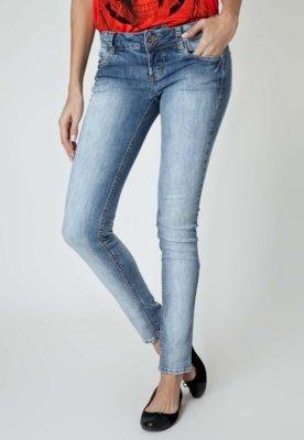 Calça Jeans Colcci Cigarrete Edna Alvejada Azul