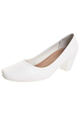 Sapato Scarpin Piccadilly Salto Grosso Branco