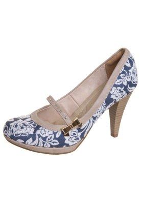 Sapato Scarpin Mary Jane Azul - Bebecê