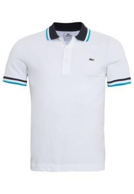 Camisa Polo Lacoste Style Branca