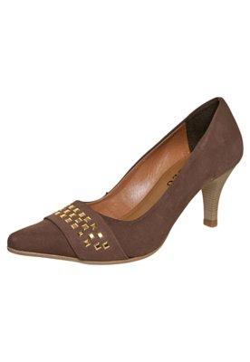 Sapato Scarpin FiveBlu Tachas Marrom