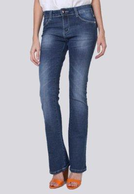 Calça Jeans Sawary Flare Tacha Azul