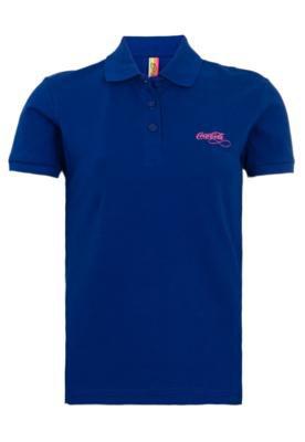 Camisa Polo Coca-Cola Clothing Small Laura Azul - Coca Cola ...