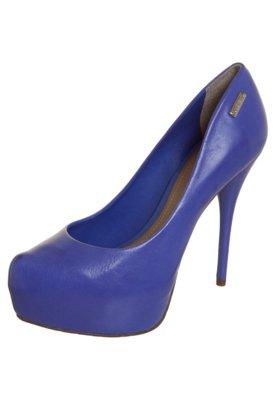 Sapato Scarpin 1/2 Pata Bico Tubarão Básico Azul - Dumond