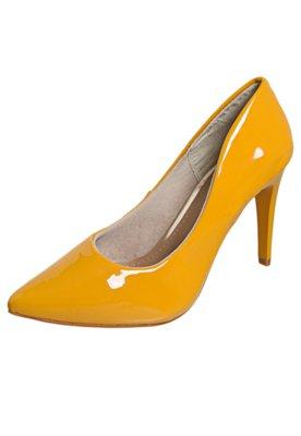 Sapato Scarpin FiveBlu Verniz Amarelo