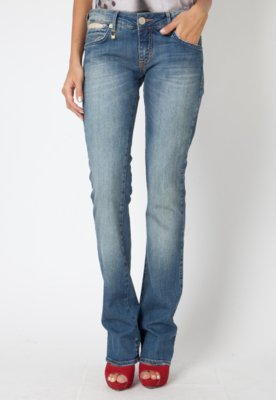 Calça Jeans Forum Raquel Reta Arabesco Azul
