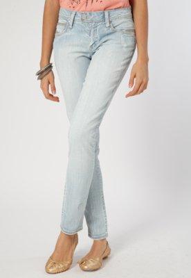 Calça Jeans Skinny Cantão Print Azul