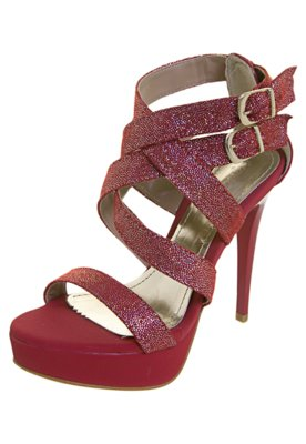 Sandália Tiras Vermelha - NightStar