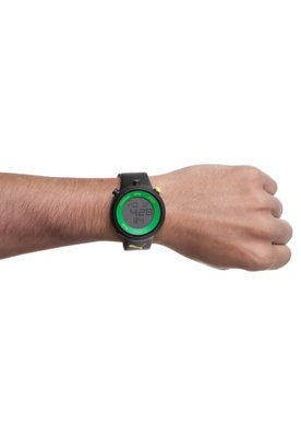 Relógio Puma Stripe Preto/Verde