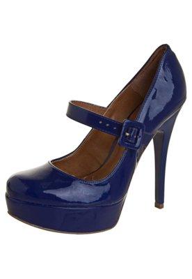 Sapato Scarpin Di Cristalli Meia Pata Bico Redondo Mary Jane...