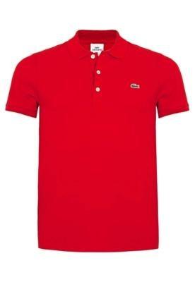 Camisa Polo Lacoste Bordado Vermelha