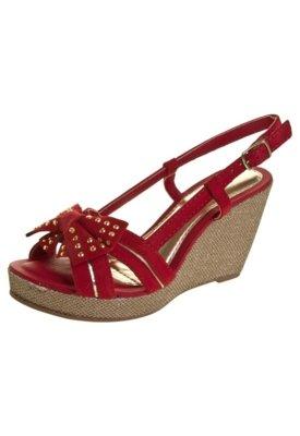 Sandália Dakota Anabela Laço Vermelha
