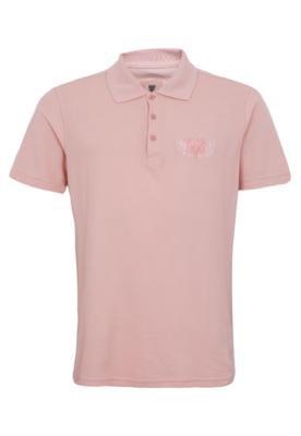 Camisa Polo Cavalera Bordado Rosa