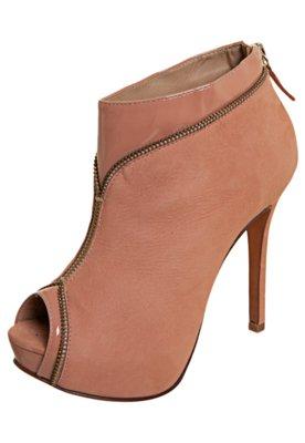 Open Boot My Shoes Zíper Nude