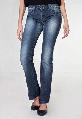 Calça Jeans Sawary Reta Poliani Azul
