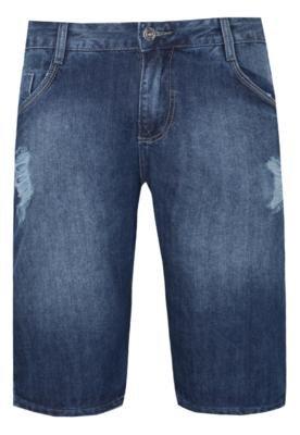 Bermuda Jeans Puídos Azul - Sawary