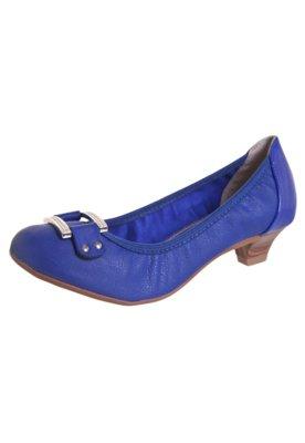 Sapato Scarpin Beira Rio Saltinho e Fivela Azul
